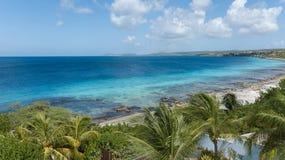 Vídeo das caraíbas da lagoa da costa de mar da ilha de Bonaire Imagem de Stock Royalty Free
