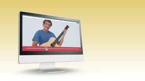 Vídeo de adolescencias en un ordenador almacen de metraje de vídeo