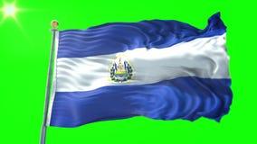 Bandera Animada De El Salvador Almacen De Video Video De Alto