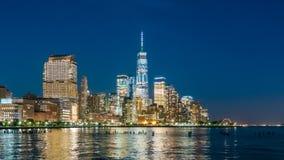 Vídeo de Hyperlapse del horizonte de Manhattan almacen de metraje de vídeo
