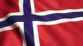 Vídeo de la animación de la bandera de Noruega - 4K