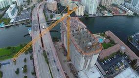 Vídeo de la antena de la construcción de edificios metrajes