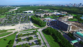 Vídeo de la antena del campus de la universidad almacen de video