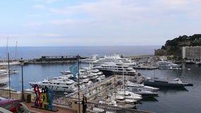 Vídeo de la ciudad de Mónaco almacen de metraje de vídeo