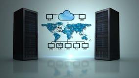 Vídeo de la red de datos grande stock de ilustración