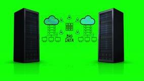 Vídeo de la red de datos grande ilustración del vector