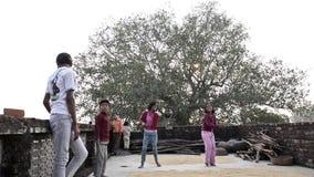 Vídeo de la vida rural del pueblo de Khajuraho almacen de metraje de vídeo