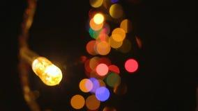 Vídeo de las luces del color y del efecto del bokeh almacen de video