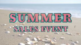 Vídeo de mercado relativo à promoção do evento de vendas do verão filme