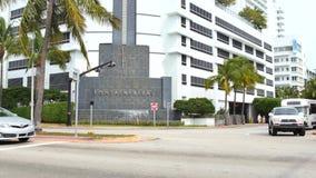Vídeo de Miami Beach 4k del hotel de Fontainebleau almacen de video