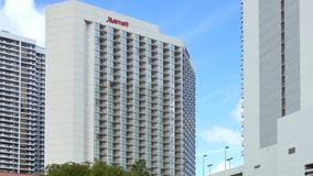 Vídeo de Miami 4k del hotel de Marriott almacen de video
