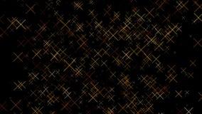 Vídeo de movimento abstrato do fundo do teste padrão do projeto do sinal do ouro x ilustração stock