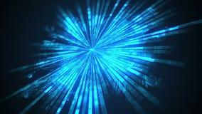 Vídeo de movimento dando laços abstrato do conceito da velocidade da tecnologia Placa de circuito futurista abstrata ilustração stock