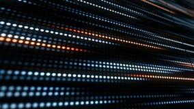 Vídeo de movimento do teste padrão da listra dos pontos Mover-se azul abstrato do ponto O fundo technologic abstrato com listras  vídeos de arquivo