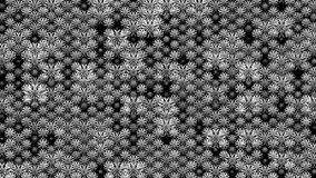 Vídeo de movimento luxuoso preto e branco da arte do fundo do teste padrão do sumário ilustração do vetor