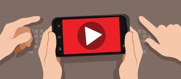 Vídeo de observação com smartphone Imagem de Stock