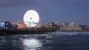 Vídeo de Santa Monica Pier Time Lapse almacen de metraje de vídeo