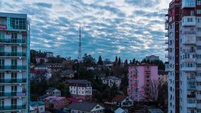 Vídeo de time lapse del día a la transición de la noche almacen de metraje de vídeo