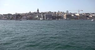 Vídeo de Timelapse da viagem da balsa de Eminonu ao bosphorus em Istambul, Turquia filme