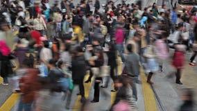 Vídeo de Timelapse de uma faixa de travessia ocupada