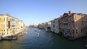 Vídeo de Timelapse de Grand Canal en Venecia Italia septiembre de 2017 metrajes