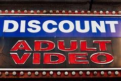 Vídeo del adulto del descuento Fotografía de archivo libre de regalías