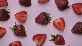 Vídeo del diseño del movimiento del fondo de la fresa cierre de la textura del color del meneo para arriba almacen de metraje de vídeo