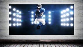 Vídeo del fútbol de la lona almacen de metraje de vídeo