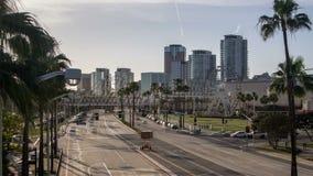 Vídeo del lapso de tiempo de la ciudad de Long Beach almacen de video