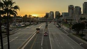 Vídeo del lapso de tiempo de la ciudad de Long Beach almacen de metraje de vídeo