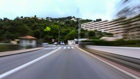 Vídeo del lapso de tiempo de la conducción