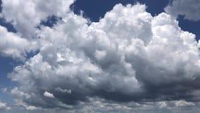 Vídeo del lapso de tiempo de las nubes de cúmulo almacen de metraje de vídeo