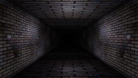 Vídeo del lazo del pasillo del ladrillo ilustración del vector