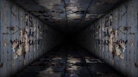 Vídeo del lazo del pasillo del metal ilustración del vector