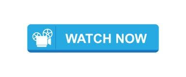 Vídeo del reloj ahora stock de ilustración