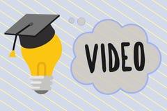 Vídeo del texto de la escritura de la palabra Concepto del negocio para la reproducción o la difusión de registración de mover im ilustración del vector