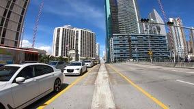 Vídeo del Time Lapse del puente del río de Miami metrajes