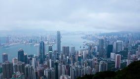 vídeo del timelapse 4k de Hong Kong a partir del día a la noche almacen de metraje de vídeo