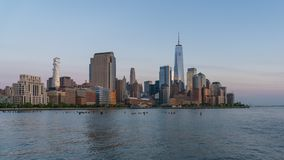 vídeo del timelapse 4k del horizonte de Manhattan almacen de metraje de vídeo