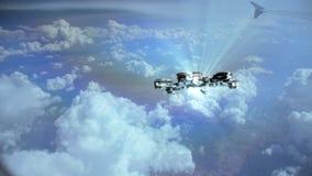 Vídeo del UFO sobre las nubes vistas de un avión