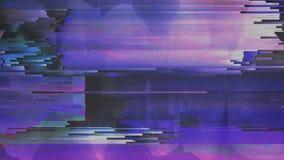 Vídeo digital abstracto del error de la interferencia del ruido del pixel de la animación metrajes