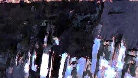 Vídeo digital leve de néon do fundo do fundo geométrico vibrante do sumário video estoque