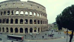 Vídeo do lapso de tempo do Colosseum de Roma video estoque