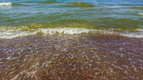 Vídeo do lapso de tempo da água do mar e das ondas filme