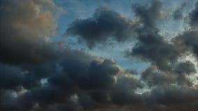 Vídeo do lapso de tempo das nuvens e do céu video estoque