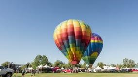 Vídeo do lapso de tempo do festival do balão do vinho de Temecula e de ar quente filme