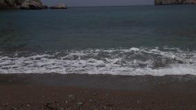 Vídeo do quebra-mar do oceano video estoque