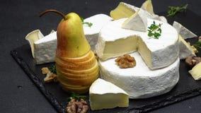 Vídeo do queijo e da pera do camembert filme