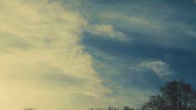 Vídeo do timelapse da nuvem vídeos de arquivo