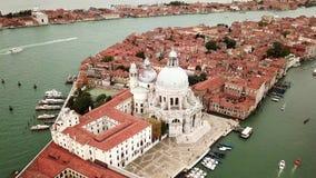 Vídeo do zangão - vista aérea de Veneza Itália filme